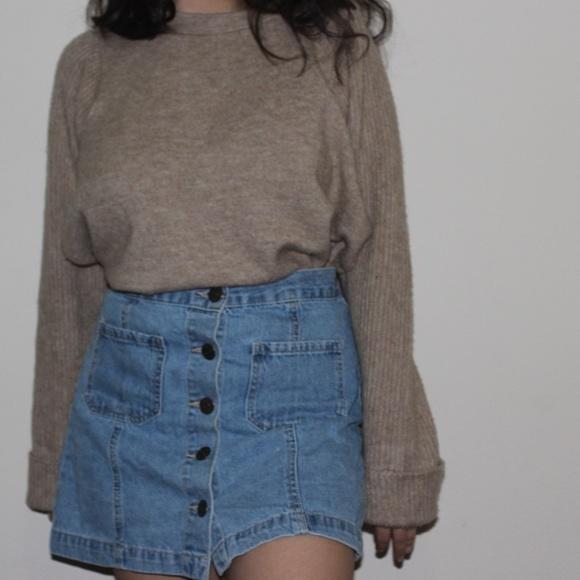ASOS Sweaters - ASOS Oversized Crewneck High Slit Sweater